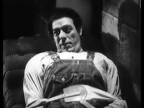 Glenn Strange as the strapped down Petro, about to be turned into the Mad MonsterI