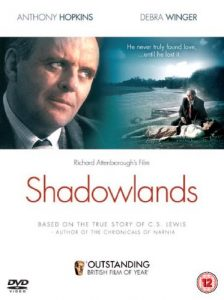 Shadowlands (1993), starring Anthony Hopkins, Debra Winger, Joseph Mazzello, directed byRichard Attenborough