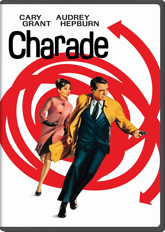 Charade (1963) starring Cary Grant, Audrey Hepburn, James Coburn, George Kennedy, Walter Matthau