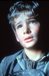 Mark Lester as the orphan Oliver!
