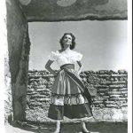 Patricia Medina, the beautiful senorita at the heart of the romantic triangle in The Beast of Hollow Mountain