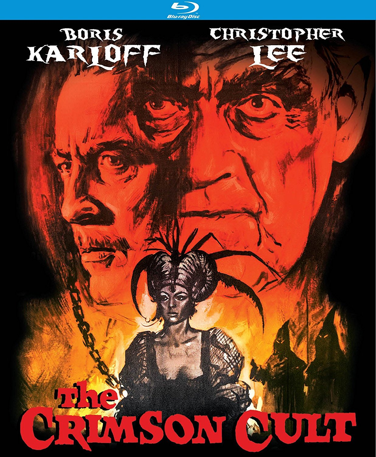 The Crimson Cult (1968), aka. Curse of the Crimson Altar, starring Boris Karloff, Christopher Lee, Mark Eden, Virginia Wetherell, Barbara Steele