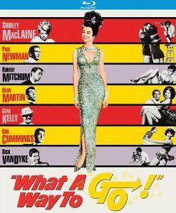 What a Way to Go starring Shirley MacLaine, Dick Van Dyke, Paul Newman, Robert Mitchum, Gene Kelly, Dean Martin, Bob Cummings
