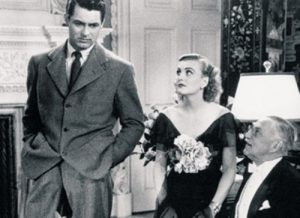 Cary Grant, his fiancee, and her father in Holiday