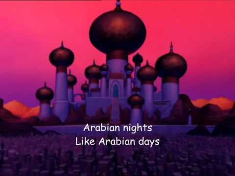 Arabian Nights lyrics - from Walt Disney's Aladdin, music by Alan Menken, lyrics by Howard Ashman