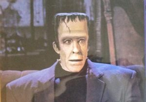 Close up of Herman Munster (Fredd Gwynne)