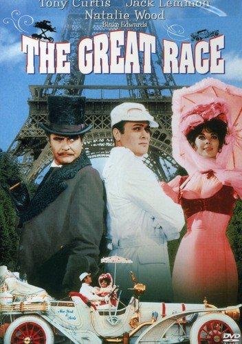 TheGreat Race (1965) starring Tony Curtis, Jack Lemmon, Natalie Wood, Peter Falk, Keenan Wynn