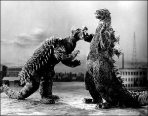 Anguirus vs. Godzilla in Godzilla Raids Again