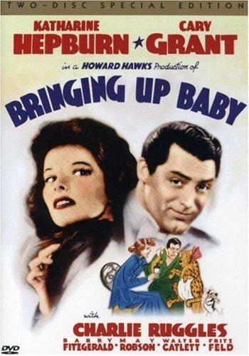 Bringing Up Baby (1938) starring Cary Grant, Katharine Hepburn, Charles Ruggles, directed by Howard Hawks