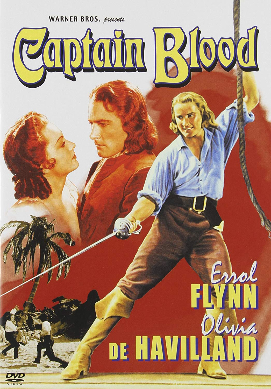 Captain Blood, starring Errol Flynn,Olivia de Havilland, Lionel Atwill, Basil Rathbone, directed byMichael Curtiz