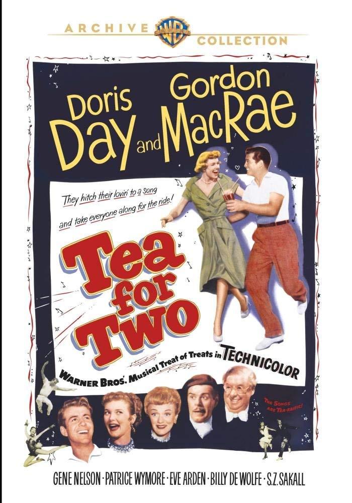 """Tea for Two (1950) starring Doris Day, Gordon MacRae, Gene Nelson, Eve Arden, Billy De Wolfe, S.Z """"Cuddles"""" Sakall"""