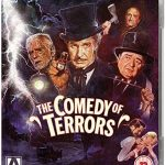The Comedy of Terrors (1963), starring Vincent Price, Peter Lorre, Boris Karloff, Basil Rathbone, Joyce Jameson