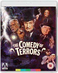The Comedy of Terrors (1963), starring Vincent Price, Peter Lorre, Boris Karloff, Basil Rathbone, Joyce Jameson