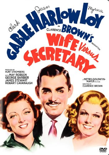 Wife Versus Secretary (1936) starring Clark Gable, Myrna Loy, Jean Harlow, James Stewart