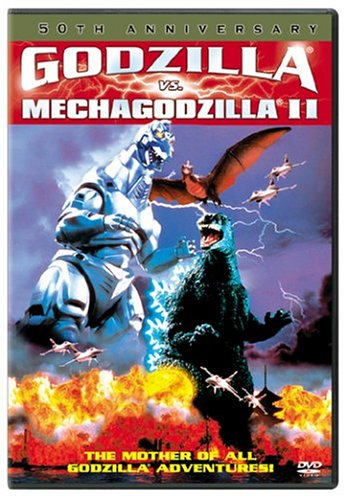 Godzilla vs Mechagodzilla II - a three-way monster mash between Godzilla, Rodan, and Mechagodzilla over Baby Godzilla