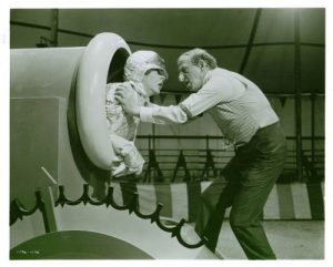 Martha Raye and Jimmy Durante in Billy Rose's Jumbo - Martha as the human cannonball