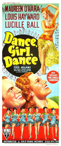 Dance, Girl, Dance - movie poster - Lucille Ball, Maureen O'Hara