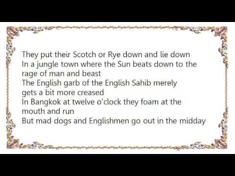 Song lyrics to Mad Dogs And Englishmen