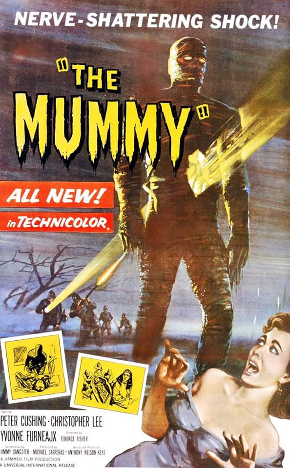 The Mummy (1959) starring Peter Cushing, Christopher Lee,Yvonne Furneaux