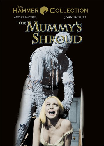The Mummy's Shroud (1967), starring  Andre Morell, John Phillips, David Buck, Elizabeth Sellars