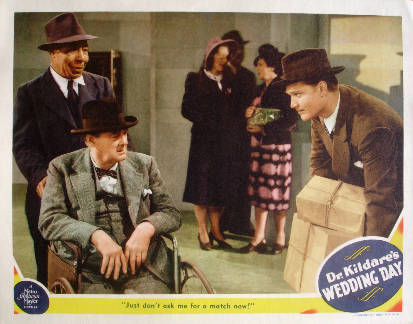 Dr. Kildare's Wedding Day, starring Lew Ayres, Laraine Day, Lionel Barrymore, Red Skelton