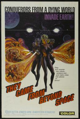 They Came From Beyond Space (1967) starring Robert Hutton, Jennifer Jayne