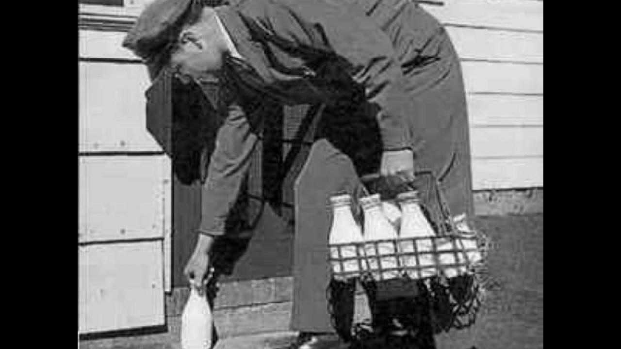 Song lyrics to Milkman Keep Those Bottles Quiet, written by Don Raye and Gene de Paul, performed by Nancy Walker and Ben Blue in Broadway Rhythm