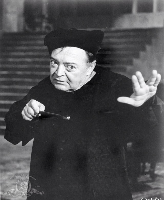 Peter Lorre in a wizard duel with Boris Karloff