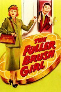 The Fuller Brush Girl cover - Lucille Ball knocks on the door, Eddie Albert answers