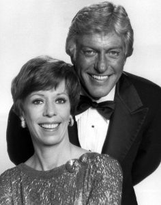 Carol Burnett and Dick Van Dyke in 1977
