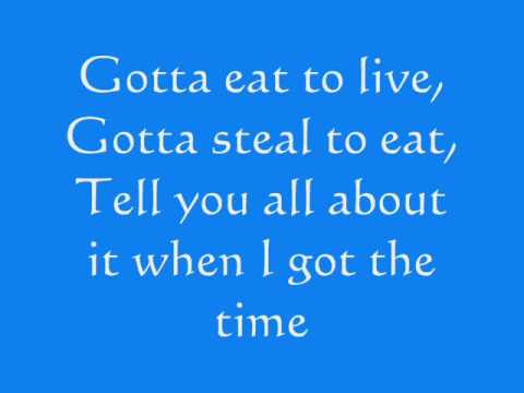 Song lyrics to One Jump Ahead, lyrics by Tim Rice, performed in Walt Disney's Aladdin