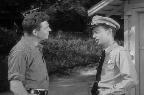 Andy Griffith meets his new deputy Don Knotts