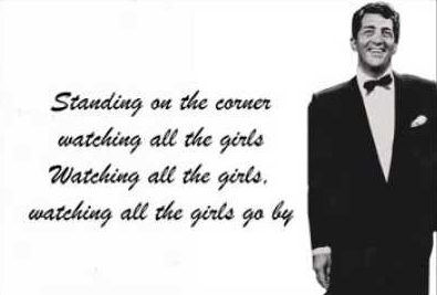 Song lyrics to Standing on the Corner by Frank Loesser