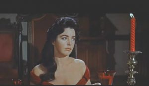 Myrna Fahey as the lovely, haunted Madeline Usher in The Fall of the House of Usher