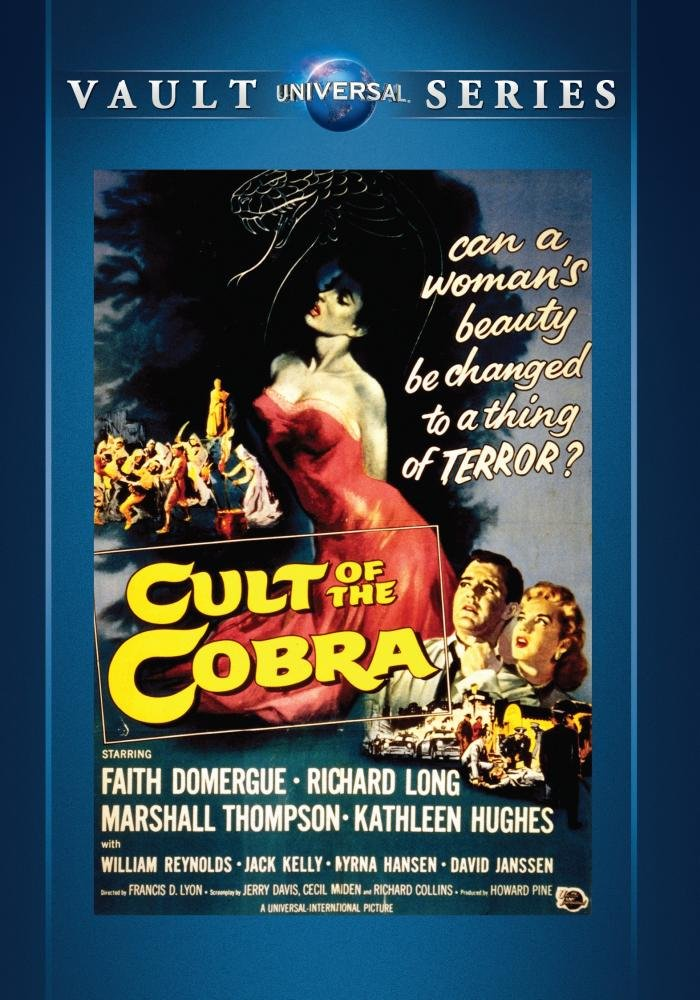 Cult of the Cobra (1955) starring Richard Long, Marshall Thompson, Faith Domergue, David Janssen