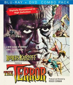 The Terror (1963) starring Jack Nicholson, Boris Karloff, Sandra Knight, Dick Miller, by Roger Corman