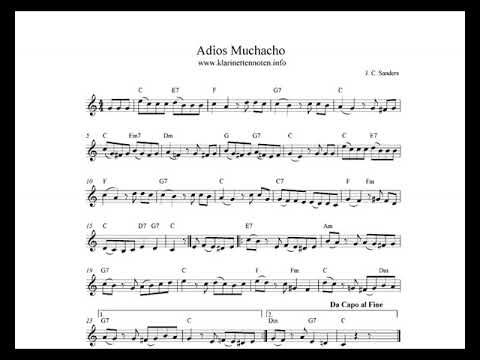 Song lyrics to Adios Muchachos - music by Julio C. Sanders, lyrics by Dorcas Cochran, performed by Desi Arnaz in the I Love Lucy episode, The Publicity Agent