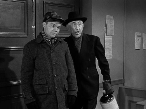 Sam Muggins brought into the jail by town skinflint Ben Weaver - on Christmas - the Christmas Story episode of The Andy Griffith Show