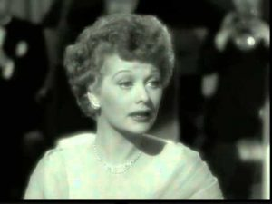 Lucille Ball as the girlfriend of Sorrowful Jones