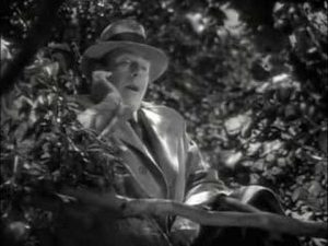 "Mr. Brink (Cedric Hardwicke portraying Death itself) trapped in an apple tree in ""On Borrowed Time"""