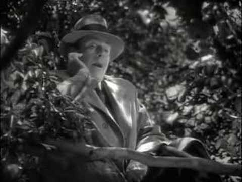"Mr. Brink (Cedric Hardwicke portraying Death itself) trapped in an apple tree in ""On Borrowed Time"""