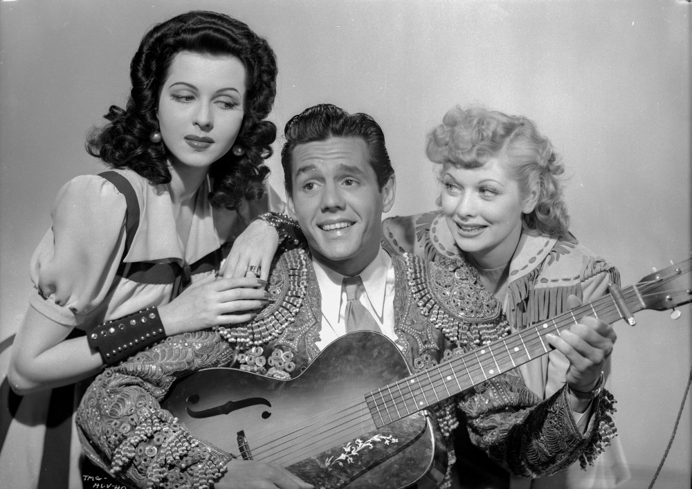Publicity photo for Too Many Girls, with Ann Miller, Desi Arnaz, and Lucille Ball