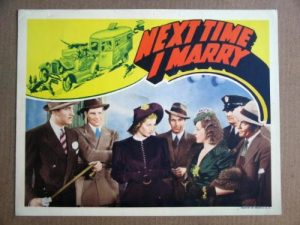 The Next Time I Marry movie poster, starring Lucille Ball, Lucille Ball , James Ellison , Lee Bowman, Granville Bates