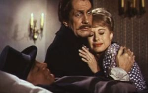 "Peter Lorre, Vincent Price & Joyce Jameson in ""Tales of Terror"""