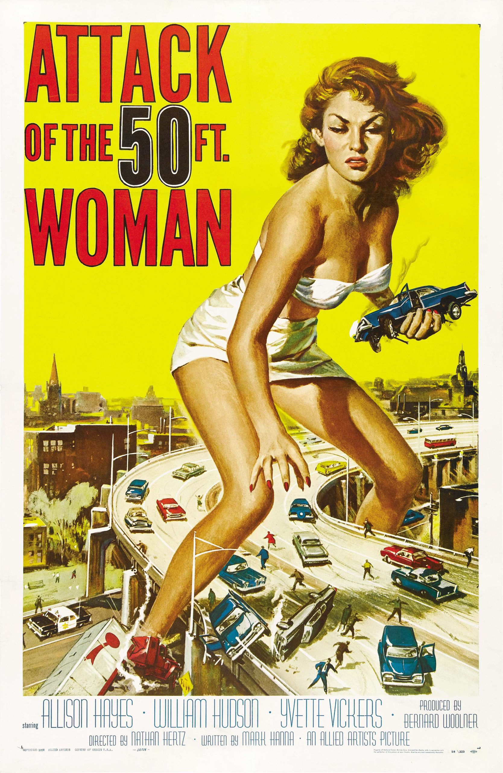 Attack of the 50 Foot Woman (1958) starring Allison Hayes, William Hudson, Yvette Vickers