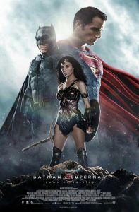 Batman v Superman : Dawn of Justice movie poster.  Batman, Superman, Wonder Woman
