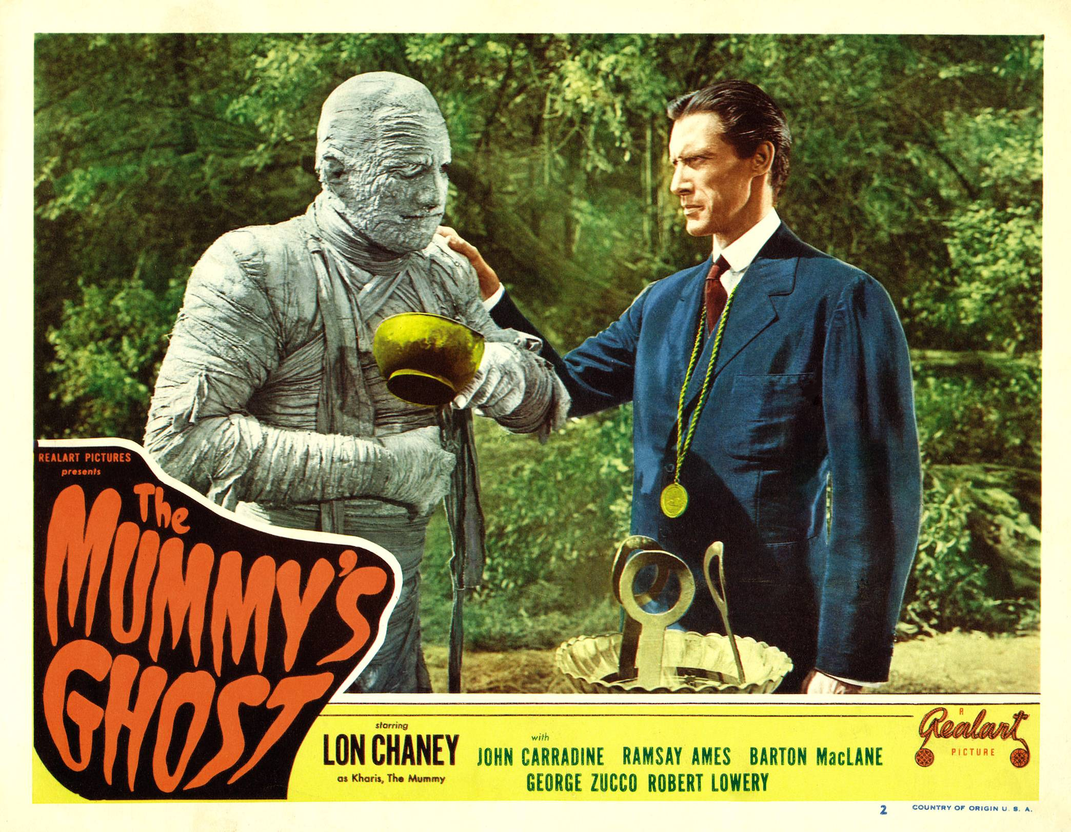 Lon Chaney Jr./Kharis the Mummy with John Carradine as the newest High Priest