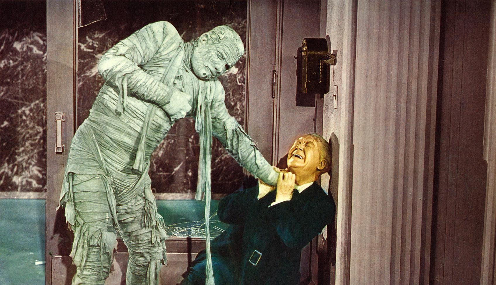 Kharis murders the poor professor in The Mummy's Ghost
