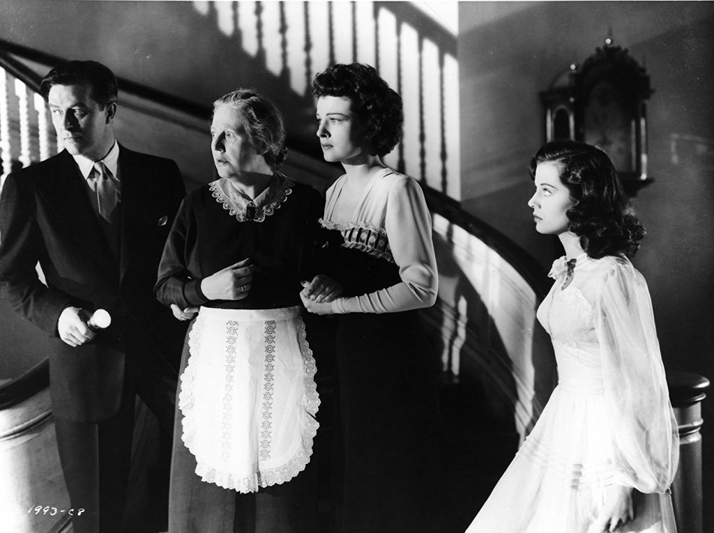Cast of The Uninvited - Ray Milland, Barbara Everest, Ruth Hussey, Gail Russell