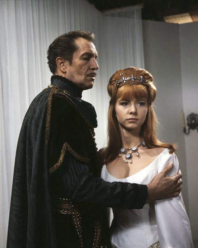 Vincent Price as Prospero, Jane Asher as Francescca, in The Masque of the Red Death